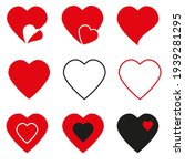 hearts icons  love symbol icon... | Shutterstock . vector #1939281295