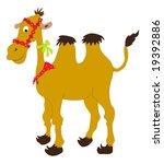 cartoon funny camel over white | Shutterstock . vector #19392886
