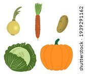 set with vegetables isolated on ... | Shutterstock .eps vector #1939291162