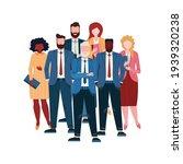 business team standing in... | Shutterstock .eps vector #1939320238