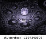 Abstract Fractal Image  Purple...