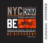 new york city  be brave... | Shutterstock .eps vector #1939343818