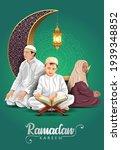 ramadan kareem and eid mubarak...   Shutterstock .eps vector #1939348852