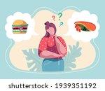 woman choosing menu. girl...   Shutterstock .eps vector #1939351192