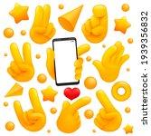 collection of various emoji...   Shutterstock .eps vector #1939356832