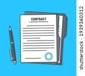 agreement document or legal... | Shutterstock .eps vector #1939360312