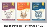 cat food label templates set....   Shutterstock .eps vector #1939366462
