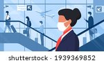 professional air hostess with...   Shutterstock .eps vector #1939369852