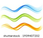 set of color abstract wave... | Shutterstock .eps vector #1939407202