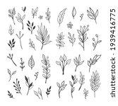 floral doodle design elements.... | Shutterstock .eps vector #1939416775