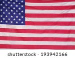 us flag hanging on a wall for... | Shutterstock . vector #193942166