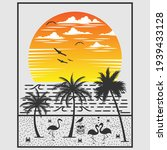 sunset view over the sea  with... | Shutterstock .eps vector #1939433128