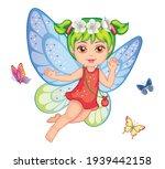 A Little Girl. Cute Small Fairy....