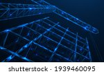 a tower crane builds the frame...   Shutterstock .eps vector #1939460095