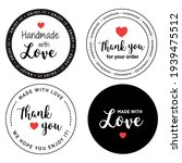 label made with love   handmade ... | Shutterstock .eps vector #1939475512