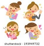 mom baby   Shutterstock .eps vector #193949732