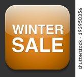 winter sale icon | Shutterstock .eps vector #193950356