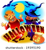 halloween party | Shutterstock .eps vector #19395190