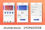 mobile banking app interface....