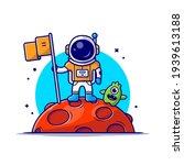 cute astronaut standing holding ...   Shutterstock .eps vector #1939613188