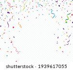 colorful confetti celebrations... | Shutterstock .eps vector #1939617055