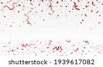 beautiful red confetti banner ...   Shutterstock . vector #1939617082