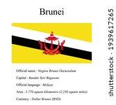 brunei national flag  country's ... | Shutterstock .eps vector #1939617265