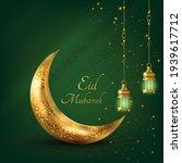eid mubarak islamic greeting... | Shutterstock .eps vector #1939617712