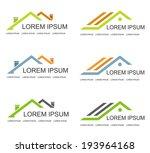 Stock vector real estate vector logo design template house abstract concept icon 193964168