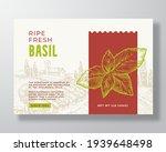 fresh basil food label template.... | Shutterstock .eps vector #1939648498