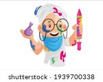 old lady is holding pichkari in ... | Shutterstock .eps vector #1939700338