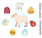 vector illustration of farm... | Shutterstock .eps vector #1939719352