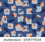 decorative flowers pattern with ... | Shutterstock .eps vector #1939779235