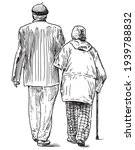 freehand drawing of couple old... | Shutterstock .eps vector #1939788832