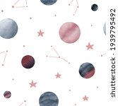 cute space seamless pattern... | Shutterstock .eps vector #1939795492