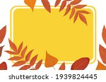 autumn frame from yellow and... | Shutterstock .eps vector #1939824445