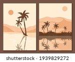 mid century sunset print. boho... | Shutterstock .eps vector #1939829272