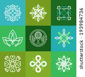 vector abstract ecology symbols ...   Shutterstock .eps vector #193984736