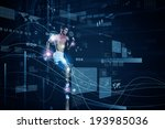 young running man against... | Shutterstock . vector #193985036