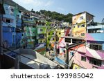 colorful painted buildings of... | Shutterstock . vector #193985042