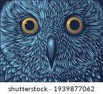 owl portrait. art detailed... | Shutterstock .eps vector #1939877062