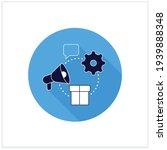 marketing campaigns flat icon...
