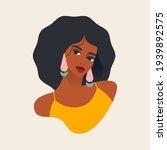 beautiful african woman. flat... | Shutterstock .eps vector #1939892575