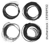 thick black circular strokes | Shutterstock .eps vector #193989932