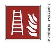 fire ladder sign. fire safety... | Shutterstock .eps vector #1939925548