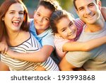 outdoor portrait of family...   Shutterstock . vector #193993868