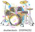 drum painting vector art | Shutterstock .eps vector #193994252