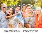 outdoor portrait of multi... | Shutterstock . vector #193994492