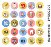 vector color medical icons set... | Shutterstock .eps vector #194002106