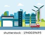 renewable energy vector concept....   Shutterstock .eps vector #1940039695